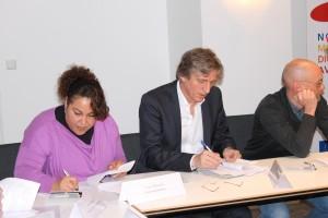 Signature de l'Accord-Cadre Sensibilisation 2015.