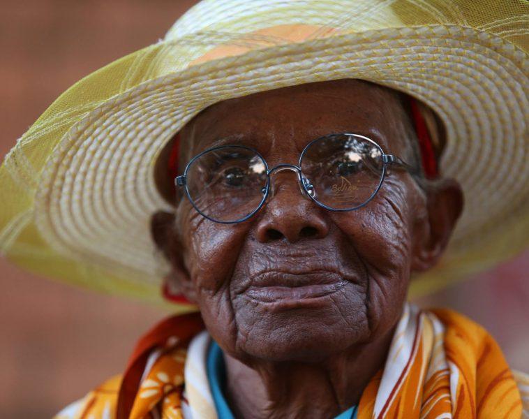 Femme malgache, bénéficiaire des activités de la Fondation Follereau