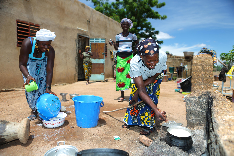 Die Frauen im Zentrum der Fondation Rama©Fondation Follereau Thierry Winn